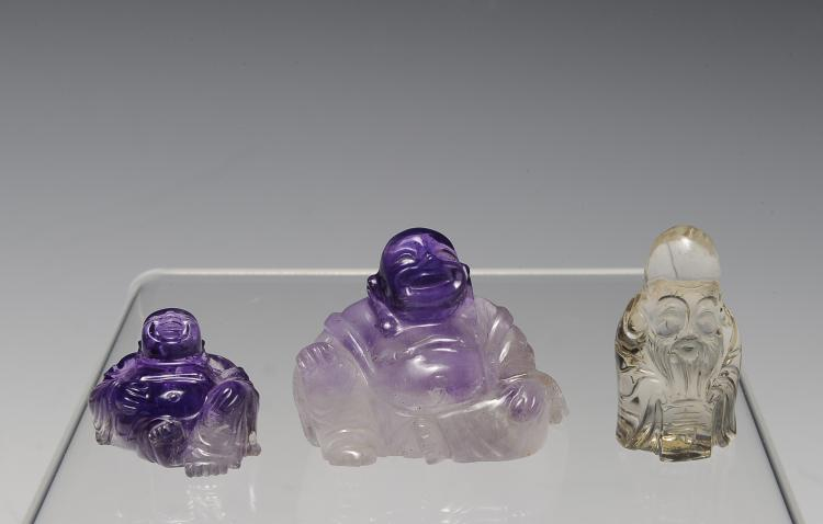 Three Crystal Carvings, 19th-20th Century