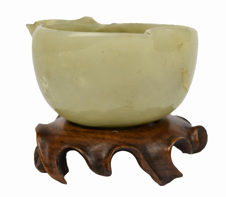 Peach Form Jade Cup, Ming Dynasty