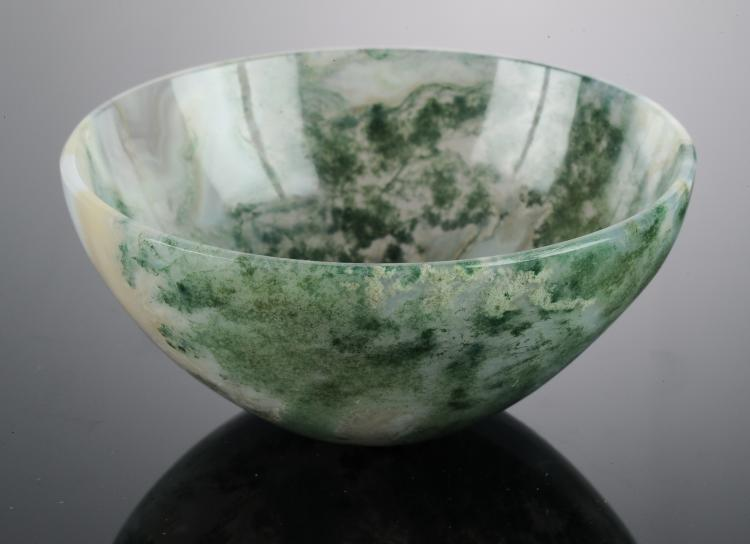 A Moss Agate Cup, Early 20th Century