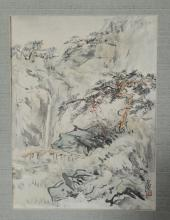 CHINESE LANDSCAPE PAINTING BY WANG YACHEN