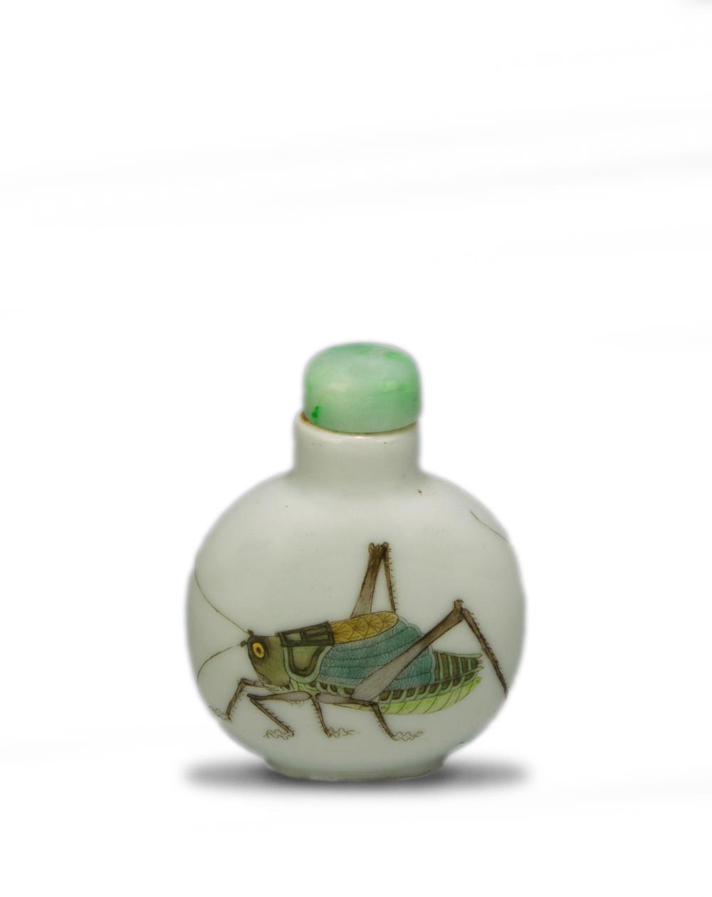 CHINESE IMPERIAL DAOGUANG SNUFF BOTTLE WITH CRICKETS