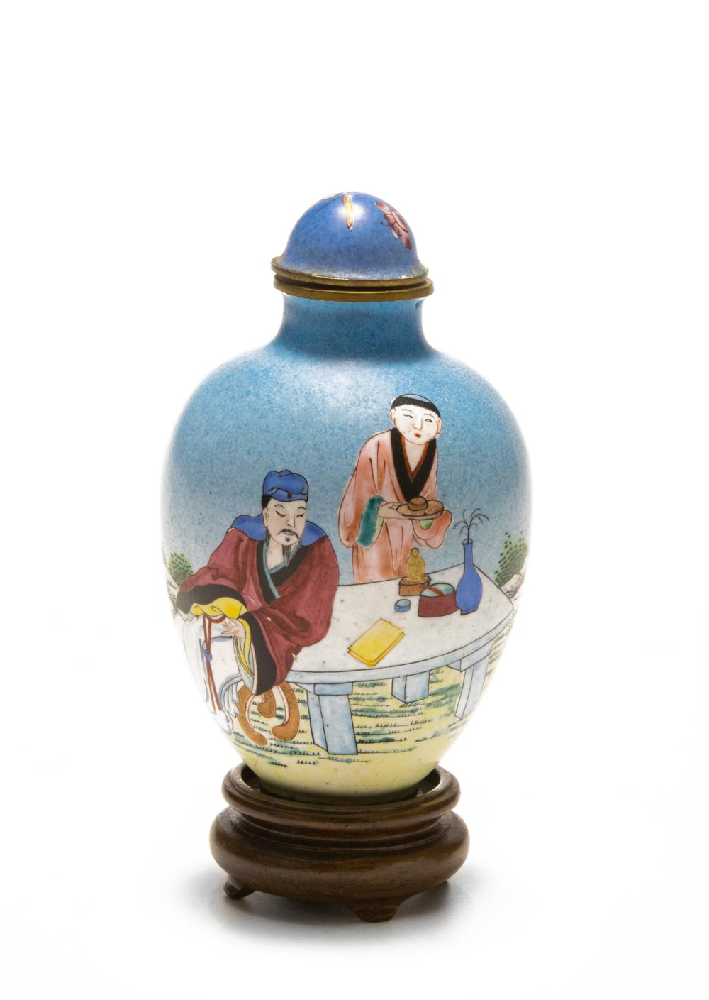 CHINESE ENAMEL SNUFF BOTTLE, 18-19TH CENTURY