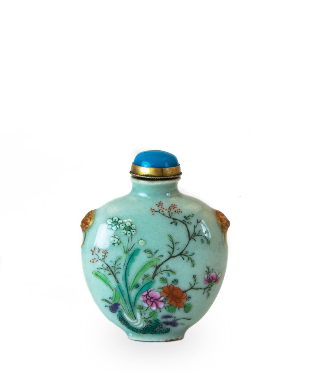 CHINESE SNUFF BOTTLE WITH IMPERIAL POEM, QIANLONG
