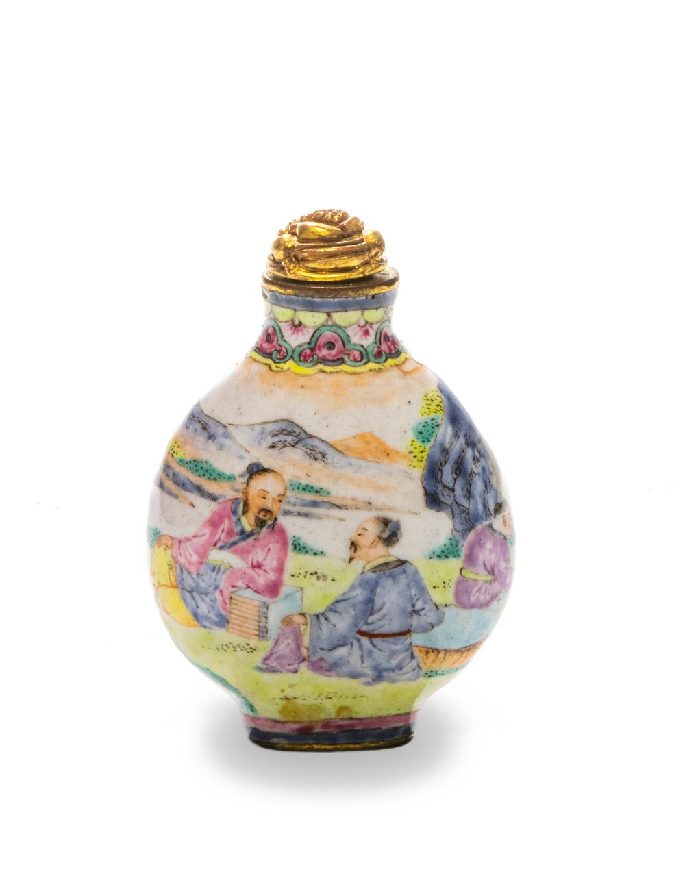 IMPERIAL ENAMELED SNUFF BOTTLE, QIANLONG