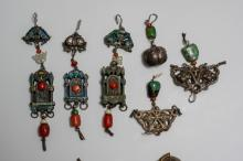 Lot 932: GROUP OF 7 CHINESE METAL ENAMELED PENDANTS