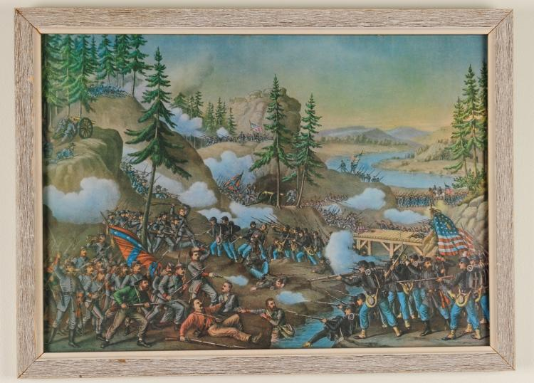 battle of chattanooga Sites/facts specific to this historic civil war map are: served as union base during the civil war (1863) scene of engagements including the battle of chickamauga and battle of chattanooga.