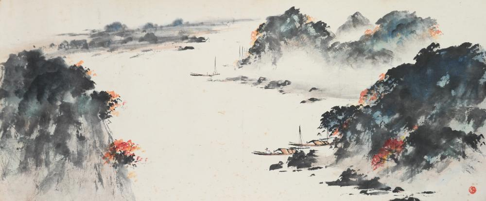 CHINESE LANDSCAPE PAINTING BY ZHAO SHAOANG
