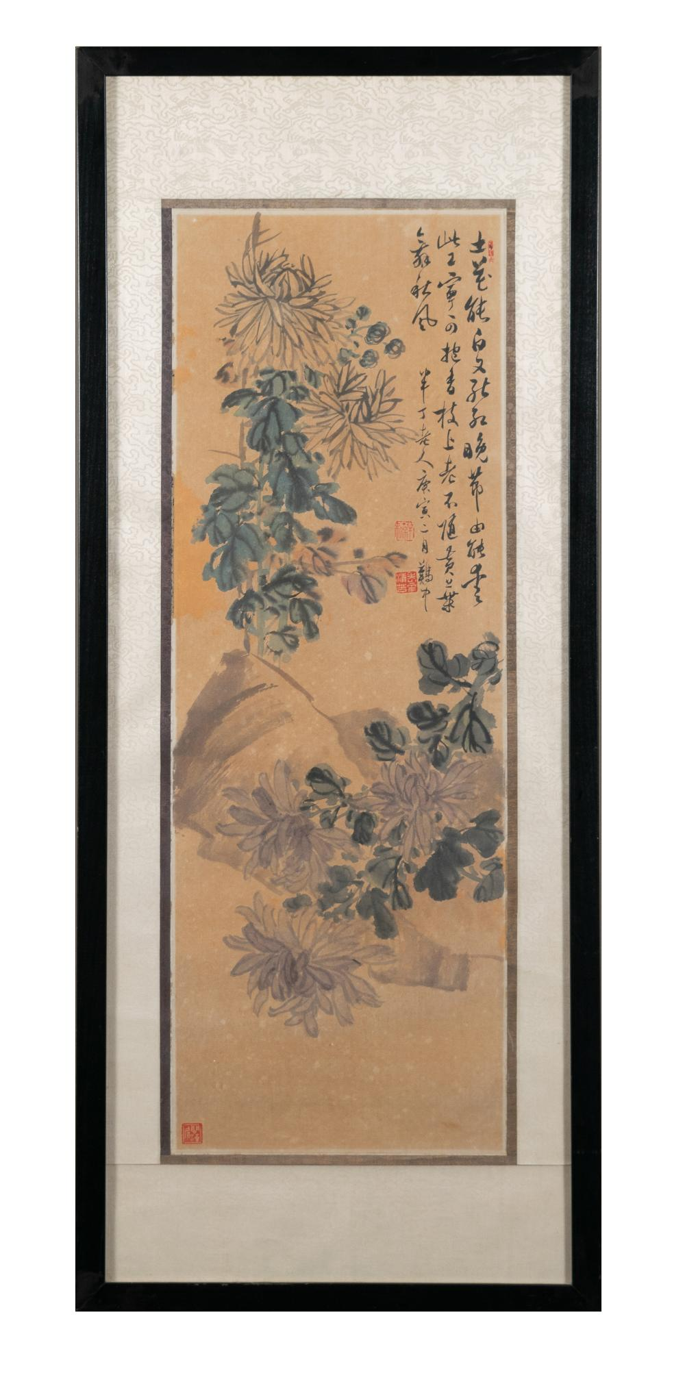 CHINESE PAINTING OF FLOWERS BY CHEN BANDING