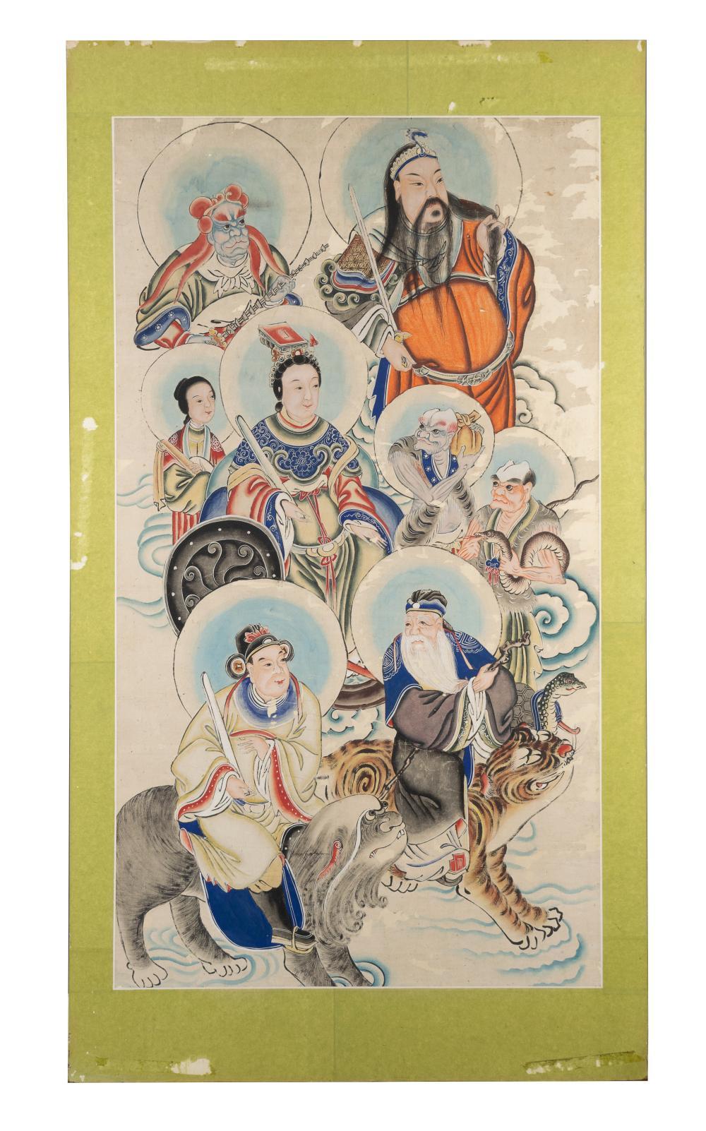 CHINESE TAOIST PAINTING, 19TH CENTURY