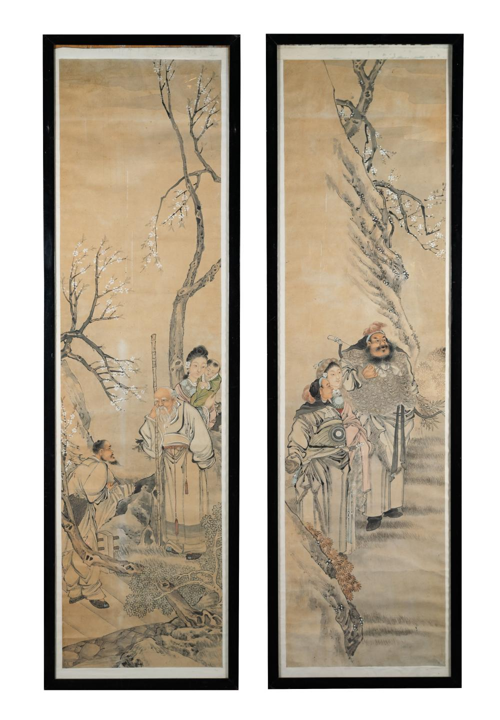 PAIR OF CHINESE PAINTINGS, 19TH - EARLY 20TH C.