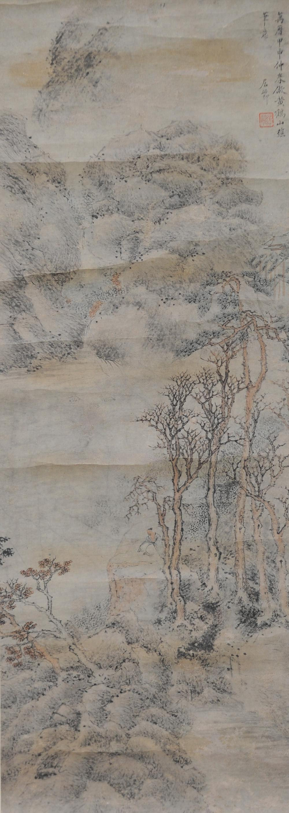 LANDSCAPE PAINTING BY JU JIE, MING DYNASTY