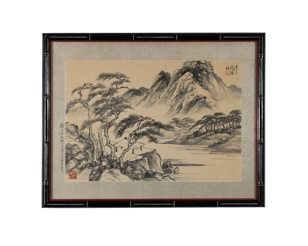 CHINESE LANDSCAPE PAINTING BY TAO LENGYUE