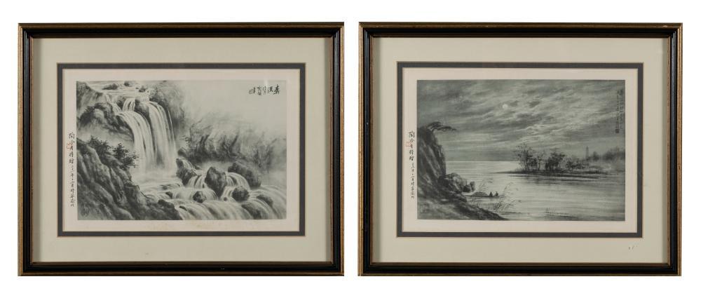 TWO TAO LENGYUE PRINTS W/ ARTIST'S SIGNATURE