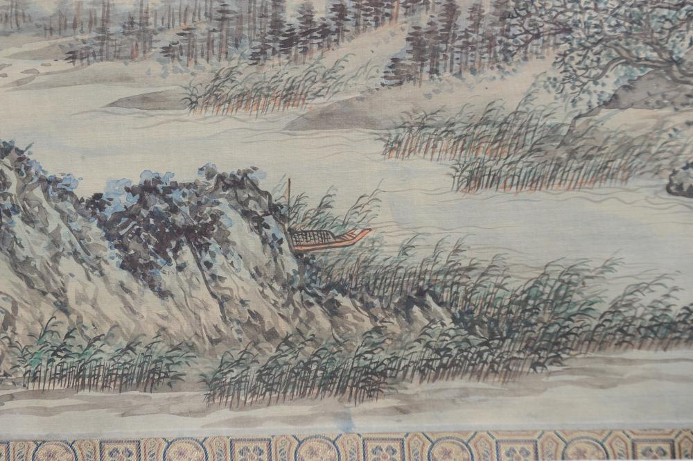 CHINESE HANDSCROLL BY ZHU XICHUN, 1916