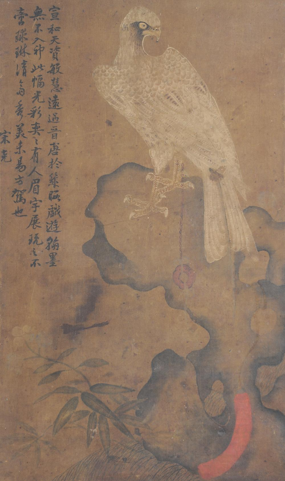 PAINTING OF EAGLE ON SILK, STYLE OF SONG HUIZONG