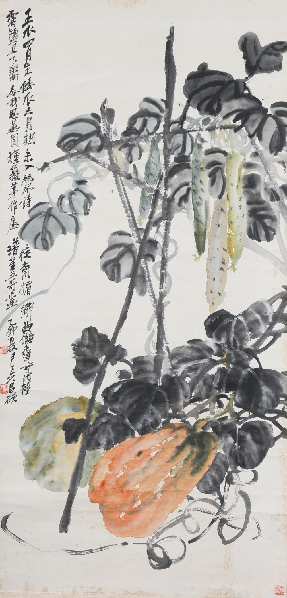 PAINTING OF PUMPKINS BY WU CHANGSHUO, 1915