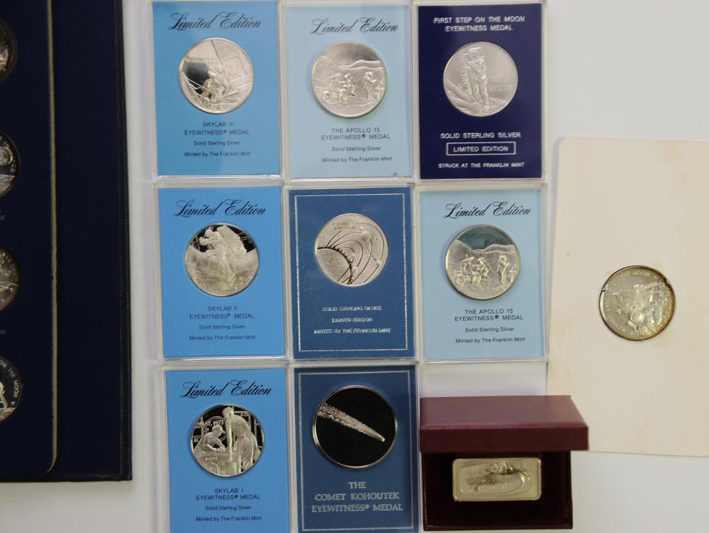 Franklin Mint Apollo XVII Platinum 10mm Mini-Coin