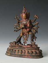 BRONZE STATUE OF YAMANTAKA, 17TH CENTURY