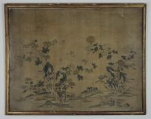 CHINESE KESI W/ FLOWERS & BUTTERFLIES, 18TH C