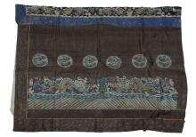 CHINESE KESI PANEL WITH DRAGONS, 19TH CENTURY