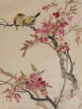 CHINESE PAINTING OF FLOWERS AND BIRDS BY WANG YACHEN