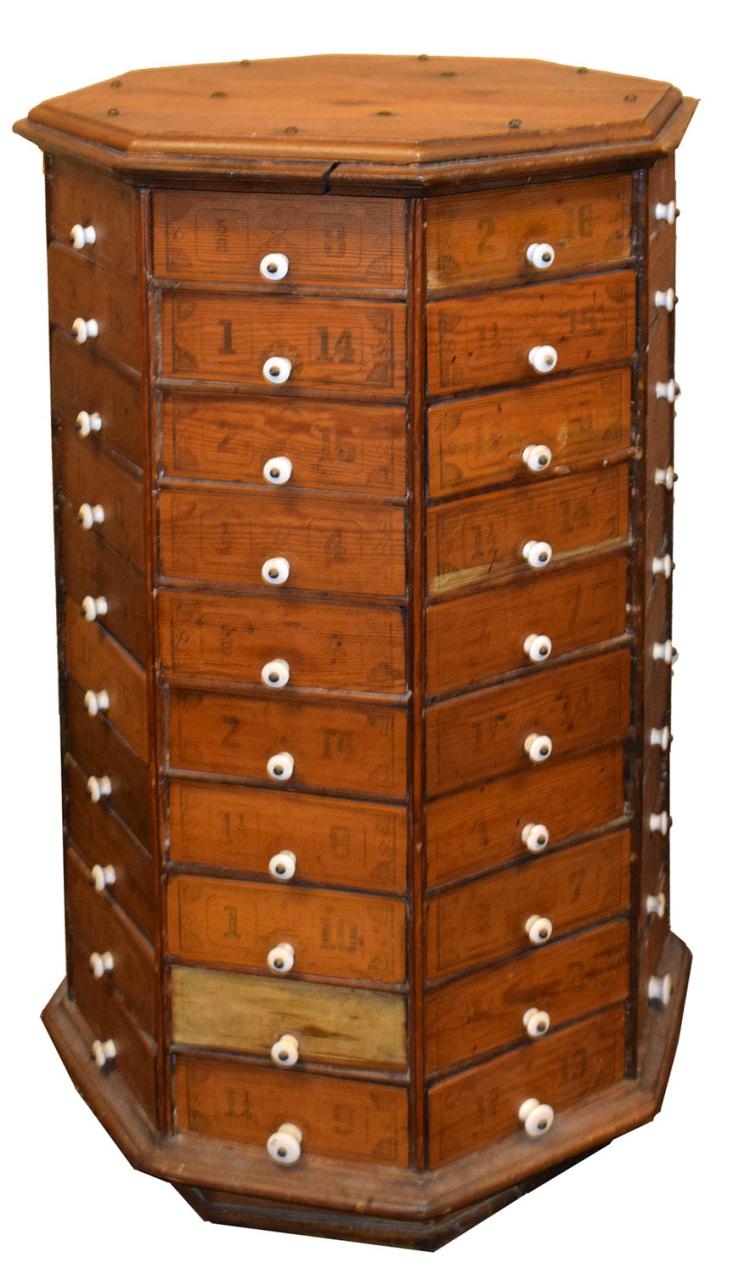 Country Store Octagonal Hardware Cabinet