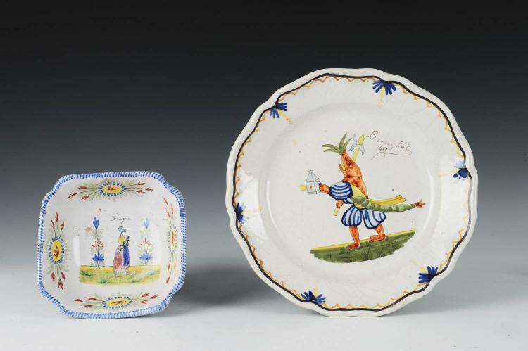 Two quimper dishes 19th century - Gallery cuisine quimper ...