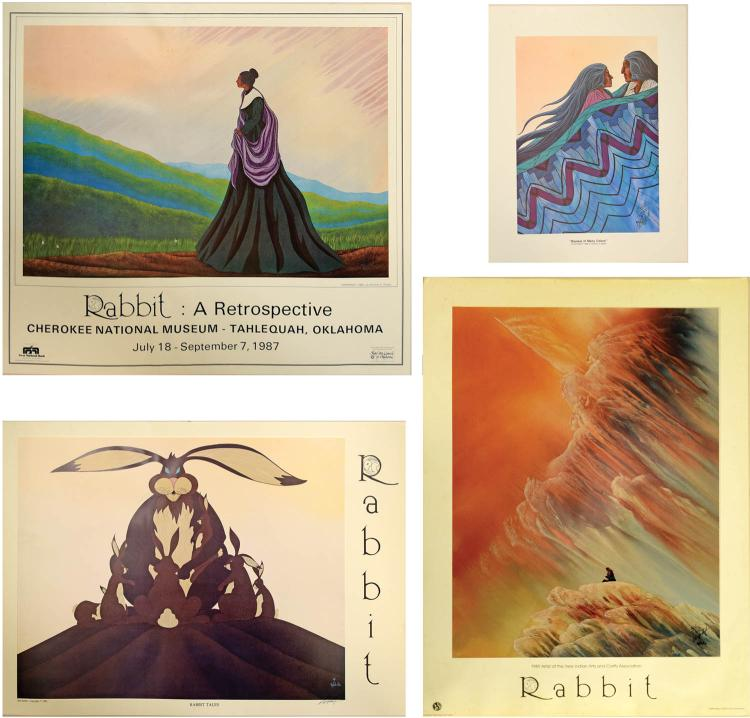 Four Signed Lithographs, Bill Rabbit