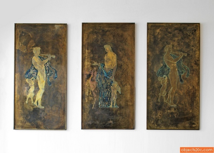 Rare Philip & Kelvin Laverne Wall Plaques, Set of 3