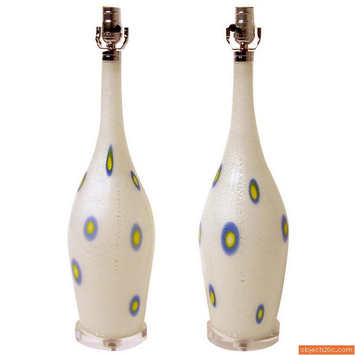 Rare Pair of Lamps by Giulio Radi