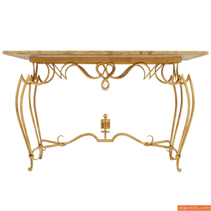 Rene Drouet French Console/Sofa Table
