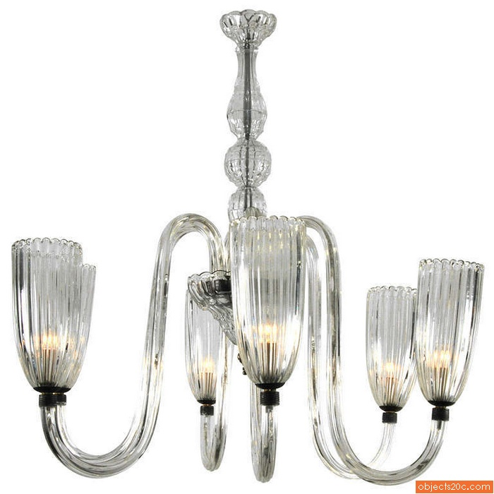 Murano Chandelier, Manner of Barovier & Toso