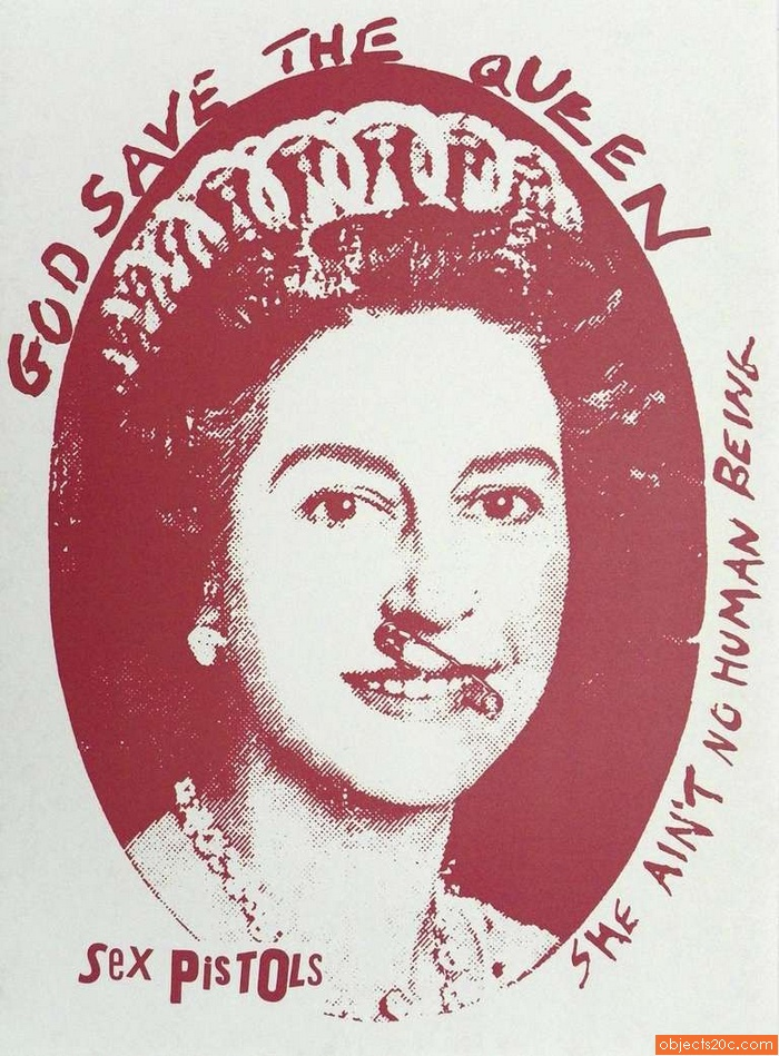 Jamie Reid GOD SAVE THE QUEEN Print
