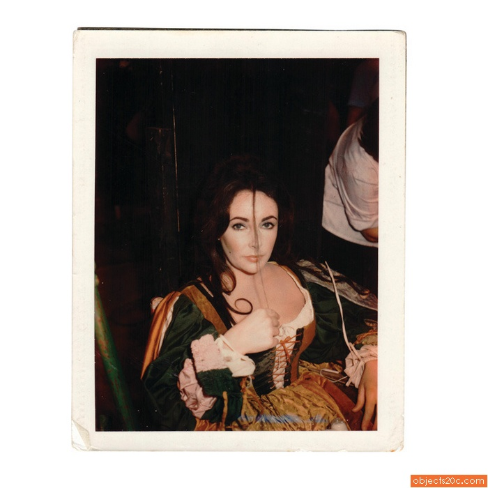 Polaroid of Elizabeth Taylor, Tiziani Archives