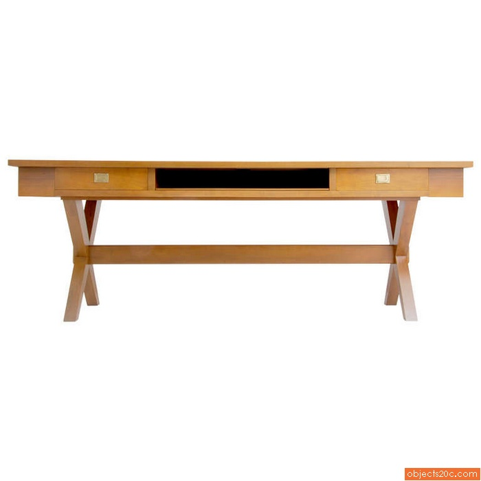 Massive Desk/Console in the Manner of Gio Ponti