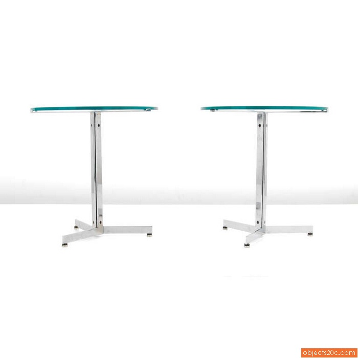 Pair of Hans Eichenberger ALPHA End/Side Tables