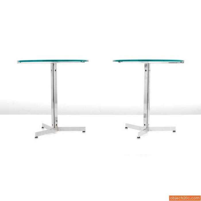 Pair of Hans Eichenberger ALPHA End/Side Tables