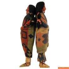 Pair of Large Skookum Dolls