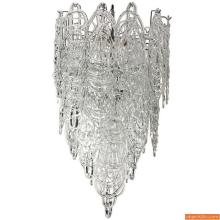 Large Mazzega Multi-Tiered Chandelier, Murano Italy