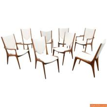 Vladimir Kagan Shield Back Dining Chairs, Set of Eight