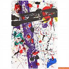 Large Sam Francis Lithograph, Signed Limited Edition