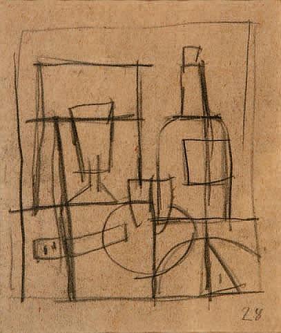 Joaquín Torres García S/t, 1928 Grafito s/papel,