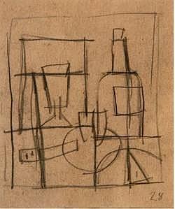 Joaquín Torres García S/t,1928 Grafito s/papel 11