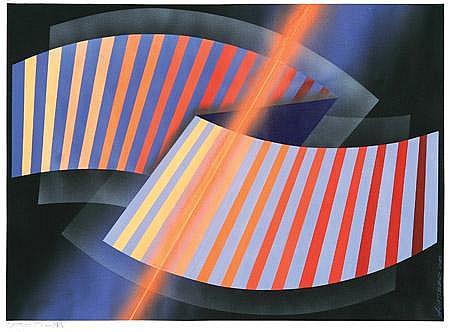 Mario Alberto Agatiello Metrus IV  Pintura acrílica s/papel de 300 grs.  2008 Octógono 18.5 cm. x lado, 45 x 45 cm.