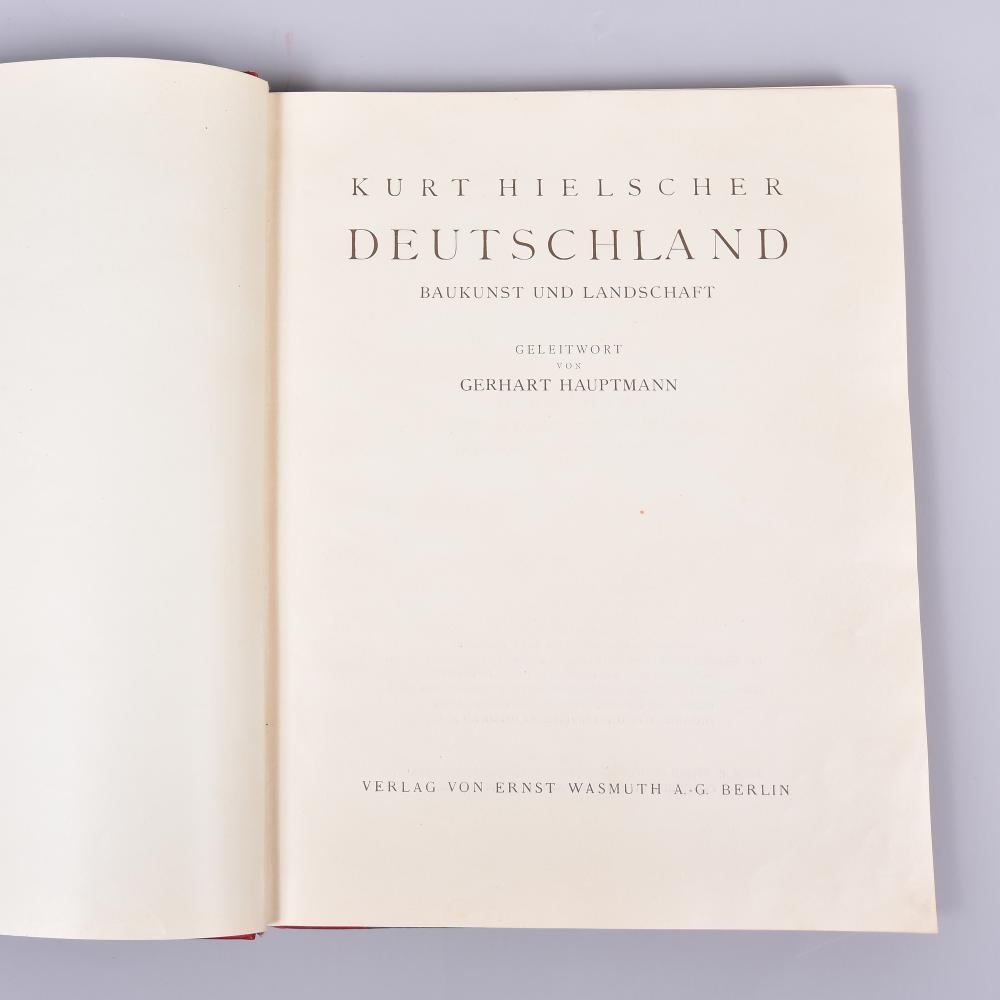 """""""Deutschland- Baukunst und Landschaft"""" K. Hielscher, Verlag E. Wasmuth A.-G.Berlin, 1924 mit zahlr. Fotografien, gut erhalten"""