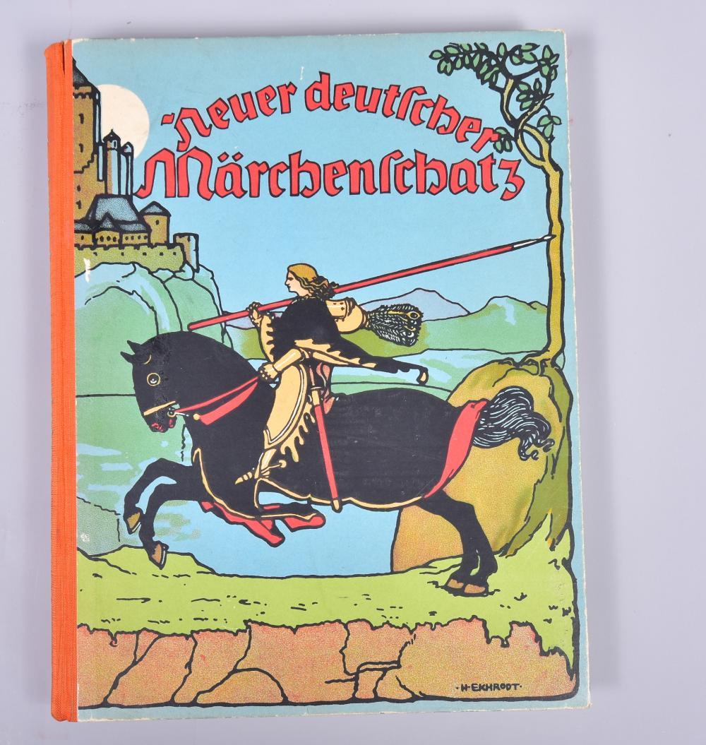 """""""Neuer deutscher Märchenschatz"""" mit 30 vierfarbigen Bildtafeln,1905, Verlag Scherl Berlin SW, sehr guter Zustand"""