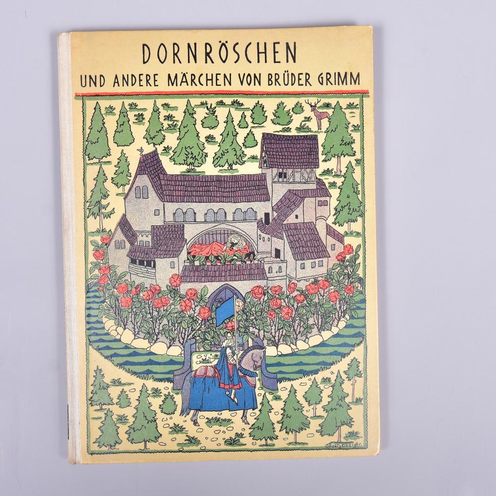 """""""Dornröschen und andere Märchen der Gebr. Grimm"""", Abel & Müller Verlag Leipz., 1927, mit tw. farbigen Illustrationen, guter Zustand"""