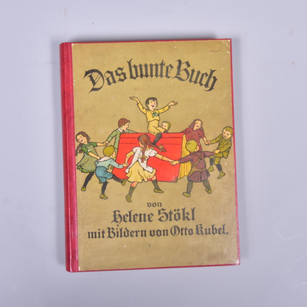"""""""Das bunte Buch"""" v. Helene Stökl m. Bildern v. Otto Kubel, Verlag Levy & Müller Stuttgart, 1914, guter Zustand, leichte Gebrauchsspuren"""