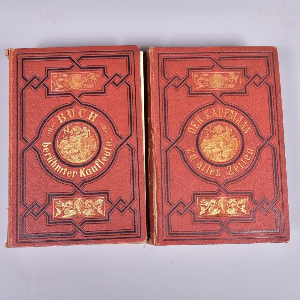 """"""" Der Kaufmann zu allen Zeiten"""" oder ein Buch berühmter Kaufleute, von Franz Otto, 1. und 2. Sammlung, Verlag Otto Spamer Berlin u. Leipzig 1869, guter Zustand"""