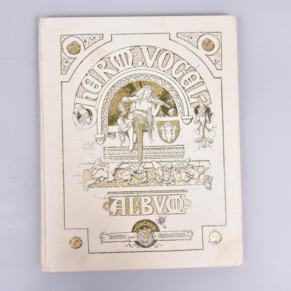 """""""Hermann Vogel - Album"""" vierte Auflage, Verlag Braun & Schneider München, um 1896, Zustand 1"""